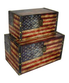 Another great find on #zulily! US Flag Box Set #zulilyfinds