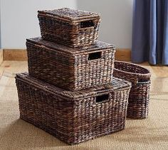 Havana Lidded Baskets #potterybarn