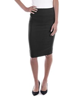 Women Pull-on Pencil Skirt, Stretchy Below Knee Attire for Office Wear *** Click image for more details.