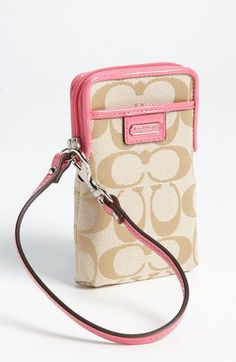 COACH 'Signature' Universal Phone Case available at #Nordstrom
