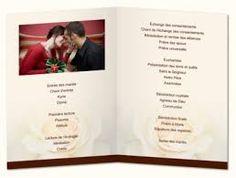 """Résultat de recherche d'images pour """"livret de cérémonie mariage"""""""