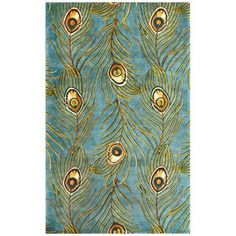 Catalina Collection Blue Peacock Area Rug http://www.lampsplus.com/products/catalina-collection-blue-peacock-area-rug__w7526.html#