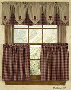 Check out the deal on Park Designs Sturbridge Design Wine Curtain Tiers at Primitive Home Decors