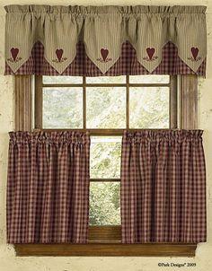 Check out the deal on Park Designs Sturbridge Design Wine Curtain Tiers at Primitive Home Decors