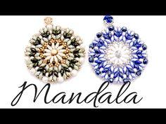 Colgante Mandala con cuentas Bar , Superduo y Miyuki - YouTube