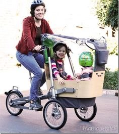 Alternatives to car transporation for families - taga bike review at mamasmiles.com  What are your favorite ways to travel with kids?
