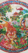 Safari Park No.10 150 x 150 cm mixed media on canvas 2012