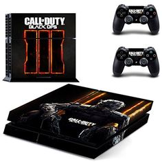 Ambur Protective Vinyl Skin Decal Cover for Sony PlayStation 4 PS4 Console  Remote DualShock 4 Controller Sticker Skins  bo3 Call of Duty Black Ops 1 Console Sticker  2 Controller Stickers *** You can find more details by visiting the image link.Note:It is affiliate link to Amazon.