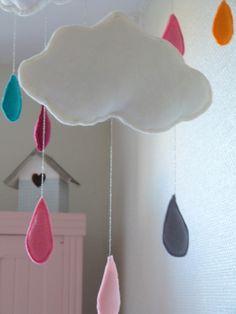 Coudre en feutrine mobile nuage | Mercerie Créative - Récréatys et Couture et Turbulences