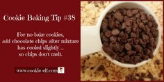 Cookie Baking Tip let Rice Krispie Treats cereal mixture cool before adding chocolate chips – so chips don't melt. Easy Salad Recipes, Chicken Salad Recipes, Easy Cookie Recipes, Dog Food Recipes, Rice Krispie Treats, Rice Krispies, One Smart Cookie, Homemade Cookies, No Bake Cookies