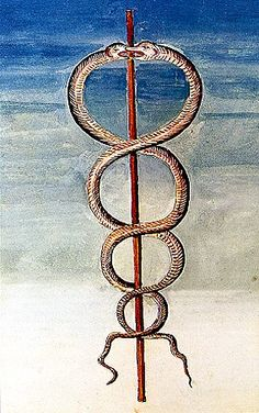 The Caduceus of Hermes. Also that of Thoth of Atlantis & Ancient Egypt. Adn Tattoo, Wicca, Magick, Witchcraft, Hermes, Nicolas Flamel, Tarot, Mercury Retrograde, Spiritus