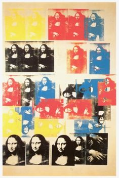 Andy Warhol - Mona Lisa - 1963 détournements,citations,joconde,mona lisa,duchamp,l.h.o.o.q