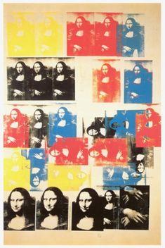 Andy Warhol - Mona Lisa - 1963 détournements,citations,joconde,mona lisa,duchamp,l.h.o.o.q
