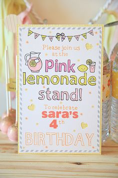 Pink Lemonade Party Theme using, the Lawn Fawn Pink Lemonade Collection Kit