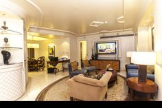 The Luxury Suite is exceptionally spacious and comfortable allowing ample space for relaxation or a small meeting.