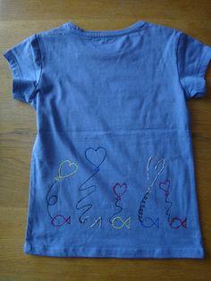 Darrera camiseta peix amb globus Asha