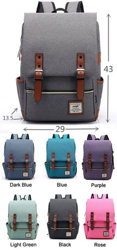 f556660b11b Cheap Vintage Travel Backpack Leisure Canvas With Leather Backpack School  Bag For Big Sale!Vintage Travel Backpack Leisure Canvas With Leather ...