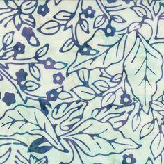Cream Lavender Branch Ocean Island Sun by QuiltsFabricandmore
