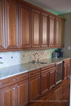 This butler's pantry makeover is fast and will inspire you to get busy. Blue Gray Kitchen Cabinets, Kitchen Cabinet Layout, Kitchen Cabinet Styles, Kitchen Room Design, Modern Kitchen Design, Kitchen Interior, Hickory Kitchen, Dressing Room Design, Kitchen Models