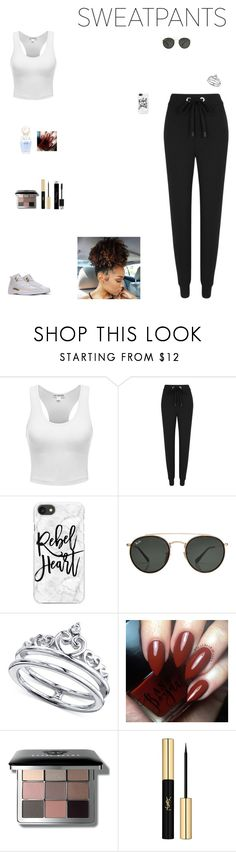 """""""#running late"""" by kittykat125 ❤ liked on Polyvore featuring No Ka'Oi, Casetify, Ray-Ban, Unwritten, Marc Jacobs, Bobbi Brown Cosmetics, Yves Saint Laurent and Christian Dior"""