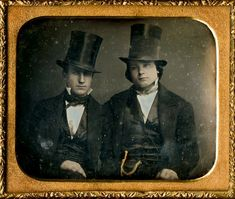 Century Plate Daguerreotype, Two Men with Top Hats, New York Vintage Photos Women, Vintage Photographs, Vintage Images, Vintage Men, Retro Vintage, Vintage Couples, Vintage Fashion, Men Are Men, Two Men