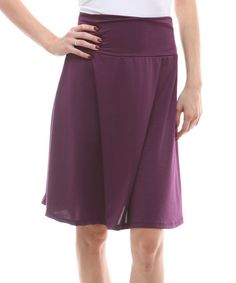 Look at this Eggplant A-Line Skirt on #zulily today!