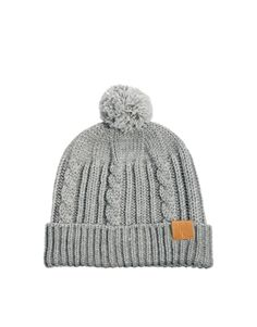 19cb59f44d5 ASOS Fisherman Beanie Hat with Bobble In Wool Blend Beanie Hats