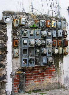 "An Electrician's nightmare....Albert would have said "" I can fix this mess!"""