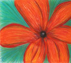 Orange Daisy by Crystal Nuding
