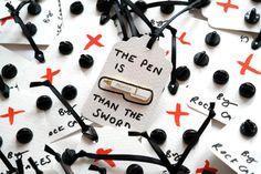 Pre orden, rojo más poderoso Pen esmalte Pin Pin, Pin, Pins, escritor regalo, RockCakes