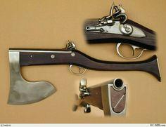 Blackpowder axe pistol? Yes please.