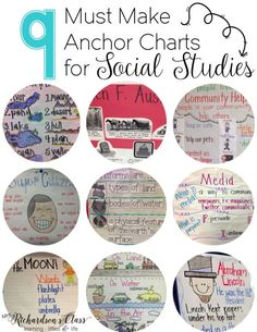 9 Must Make Anchor Charts for Social Studies--the 2nd and 5th are so simple to create!