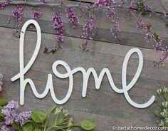 New Handwritten Word Cutouts From Start at Home Decor