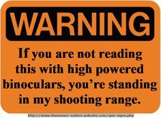 Shooting Range #funny #Signs