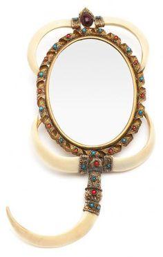 Hand mirror, probably Hindu.  From the early 20th Century | Balclis Barcelona  www.balclis.com