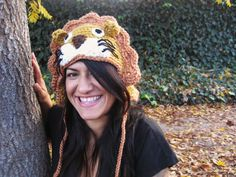 Rene the Lion Crochet Beanie Hat Kid - Adult Size - Made to Order for YOU