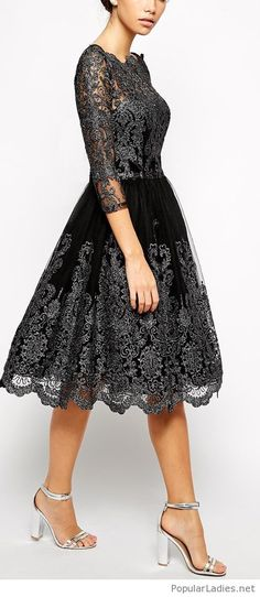 Amazing tea dress design with lace