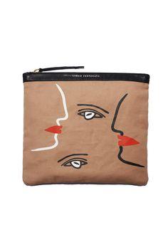 Lizzie Fortunato - Cubist Face Oversize Pouch | BONA DRAG