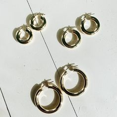 YALA HOOPS silber vergoldet Lotion, Messing, Jewelry, Gold Paint, Copper, Chain, Silver, Jewellery Making, Jewelery