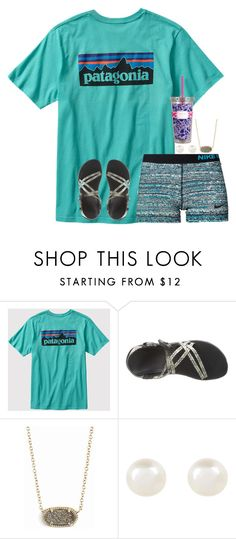 """Untitled #350"" by jazmintorres1 ❤ liked on Polyvore featuring Patagonia, NIKE, Chaco, Kendra Scott, Accessorize and Lilly Pulitzer"