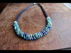 Ethnic Inspired Beaded Wire and Leather Necklace - YouTube