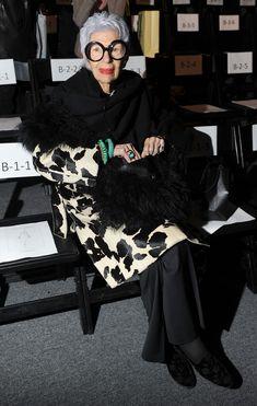 IRIS APFEL. Oh, the coat!