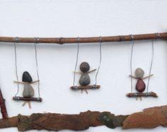 Génial Shadowbox Art  fait de bâtons et de pierres  | Etsy