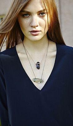 Nugget Necklace - Green Amethyst - Plümo Ltd