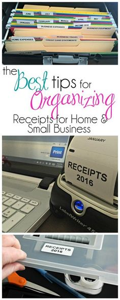 Organizing Receipts for Tax Time ad