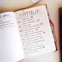 This list is great for those days when you're just feeling blue. Simple reminders of what makes you happy can change things around in an instant!