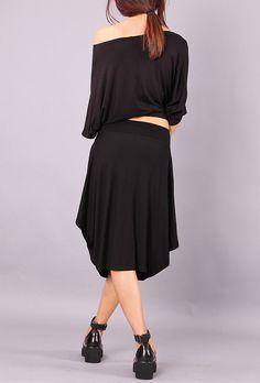 BEBA 2 Skirt extravagant knee length black skirt by Comfortissimo