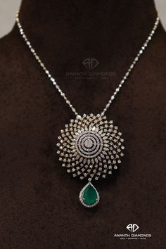 Presenting you an uncompromised beauty and rarity set with beautiful and responsibly sourced diamonds and awesomely finished with an emerald drop. What a perfect ensemble for any occasion.