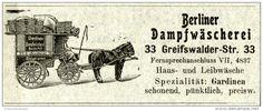 Original-Werbung/ Anzeige 1903 : BERLINER DAMPFWÄSCHEREI - ca  100 x 40 mm