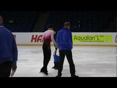 Finlandia Trophy 2012 Espoo 6.10.2012 Men´s winner Yuzuru Hanyu JPN helps repair ice